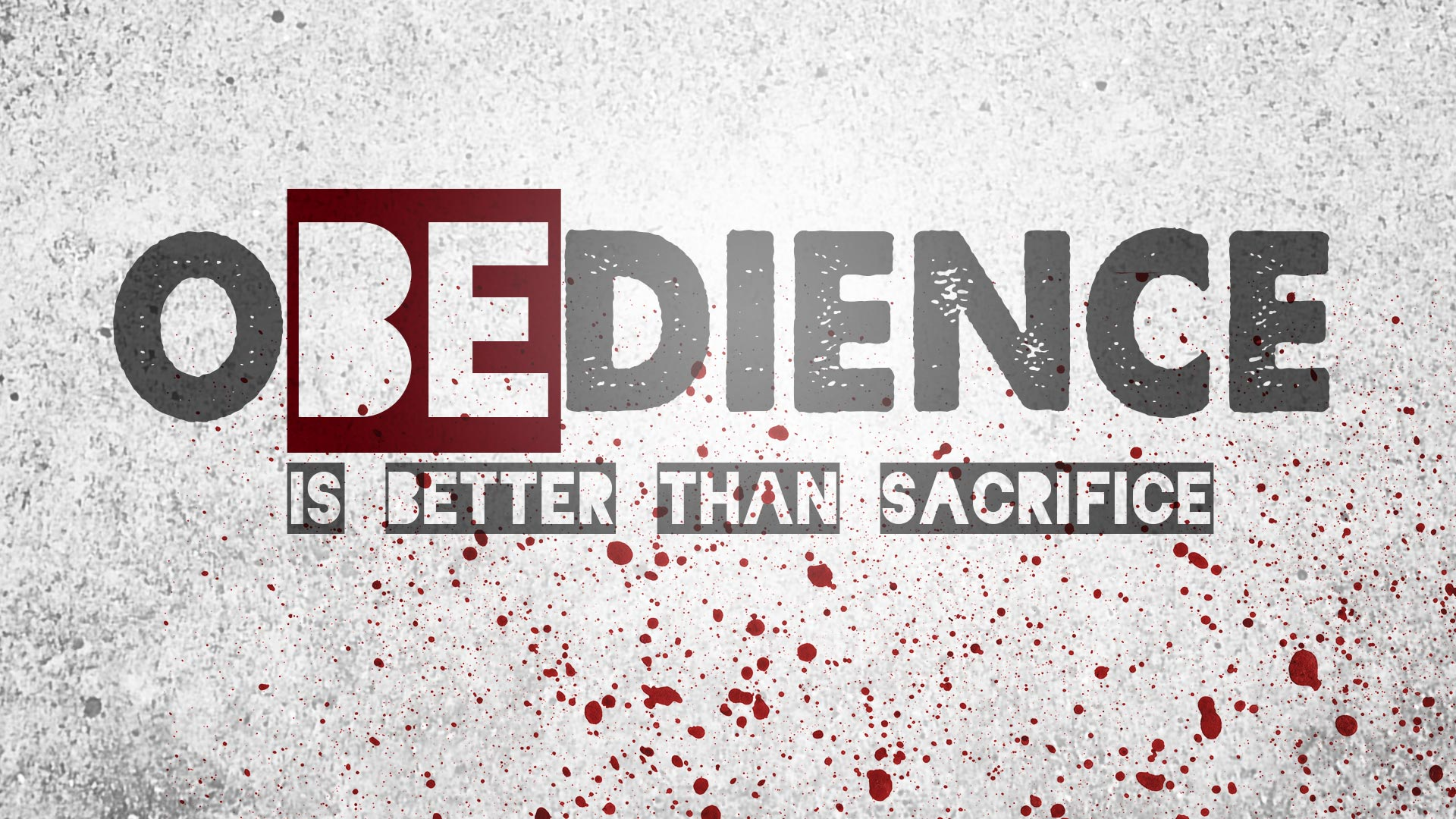essay on obedience is better than sacrifice To obey is better than sacrifice v23 a confused sacrifice for obedience b people give a sacrifice instead of obedience c sacrifice does not make up for obedience.